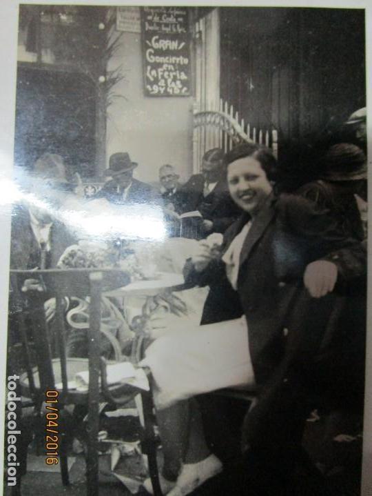 LOTE FOTOS ANTIGUAS FERIA CEUTA 1939 GUERRA CIVIL FAMILIA MILITAR OFICIAL MARINA Y AVIACION (Militar - Fotografía Militar - Guerra Civil Española)