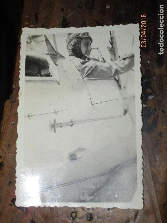 Militaria: AVION CON PILOTO DE GUERRA CIVIL ESPAÑOLA CIRCA 1938 - Foto 2 - 141614502