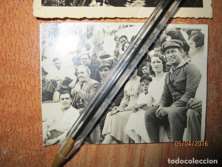Militaria: OFICIALES PLAZA TOROS CEUTA Y OFICIAL FOTOGRAFO FINAL GUERRA CIVIL CIRCA 1939 - Foto 3 - 141857186