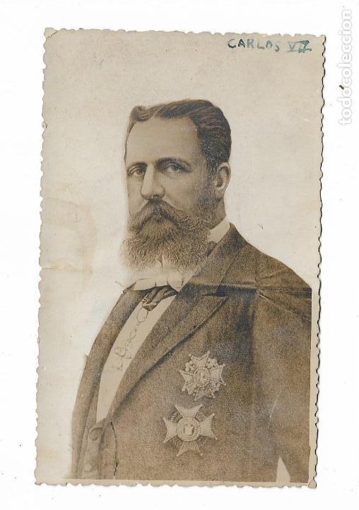 ANTIGUA FOTOGRAFIA CARLISTA CARLOS VII (Militar - Fotografía Militar - Otros)