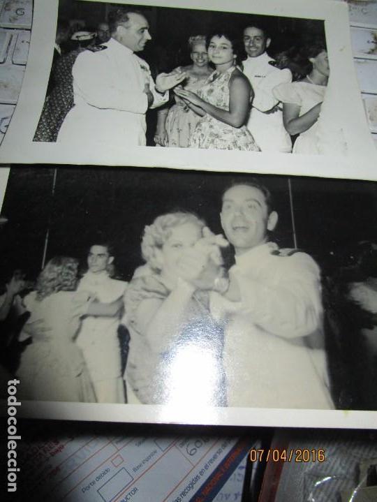 OFICIALES DE MARINA POST GUERRA CIVIL ESPAÑOLA FERIA DE CEUTA (Militar - Fotografía Militar - Guerra Civil Española)
