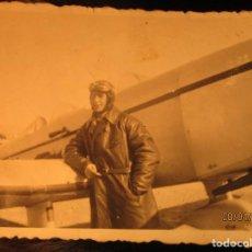 Militaria: PILOTO TEODORO CON AVION GUERRA CIVIL ESPAÑOLA CIRCA 1938 DEDICA A EMILIA FALANGISTA DE CEUTA. Lote 142193742