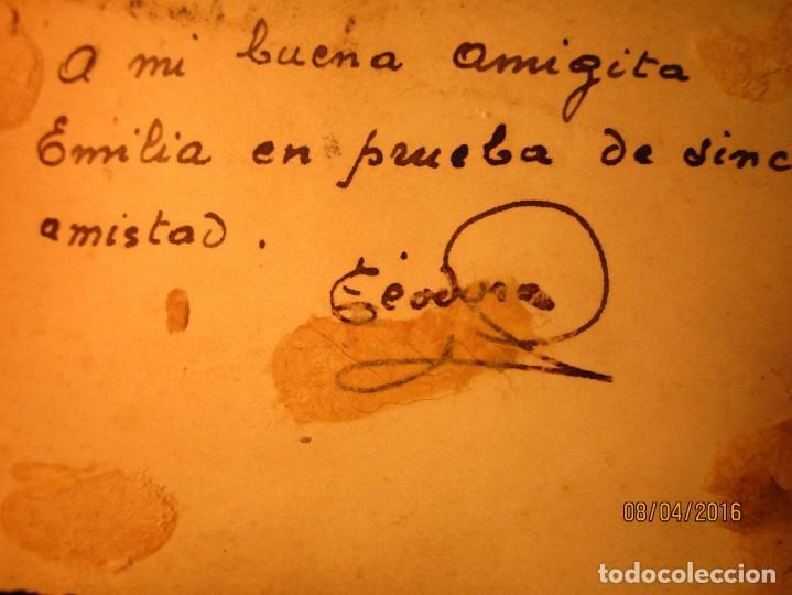 Militaria: PILOTO TEODORO CON AVION GUERRA CIVIL ESPAÑOLA CIRCA 1938 dedica a emilia FALANGISTA de ceuta - Foto 2 - 142193742