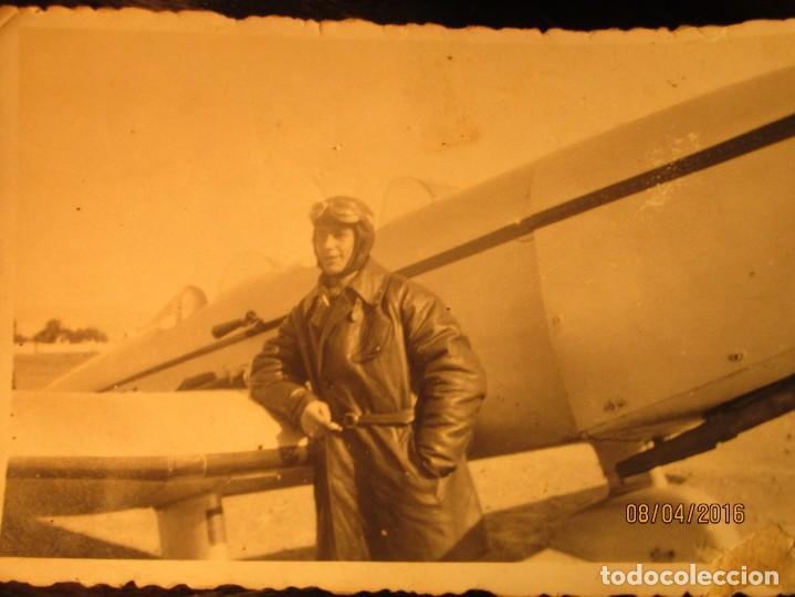Militaria: PILOTO TEODORO CON AVION GUERRA CIVIL ESPAÑOLA CIRCA 1938 dedica a emilia FALANGISTA de ceuta - Foto 3 - 142193742