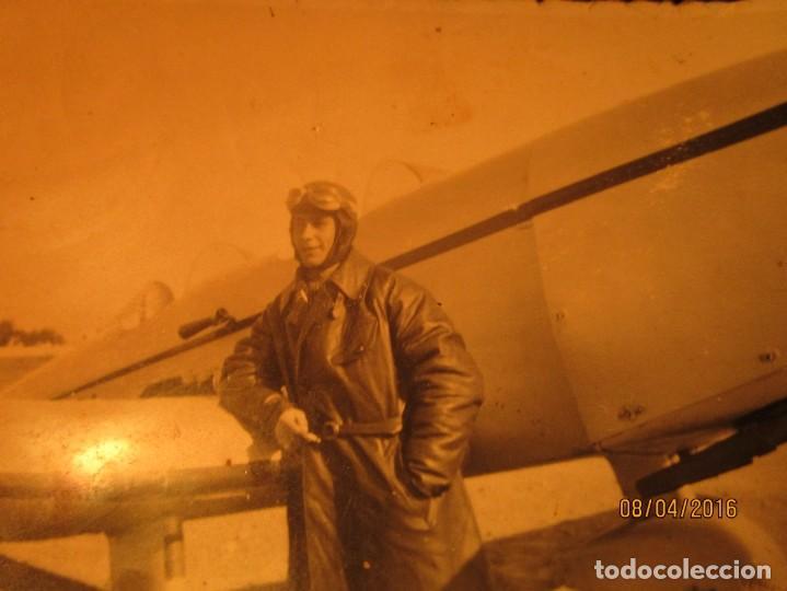 Militaria: PILOTO TEODORO CON AVION GUERRA CIVIL ESPAÑOLA CIRCA 1938 dedica a emilia FALANGISTA de ceuta - Foto 4 - 142193742