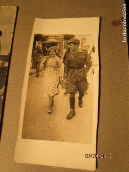 Militaria: POST GUERRA CIVIL ALBUM 214 FOTOS ANTIGUAS CEUTA MILITAR FIESTAS playa capitan avion - Foto 4 - 142265270
