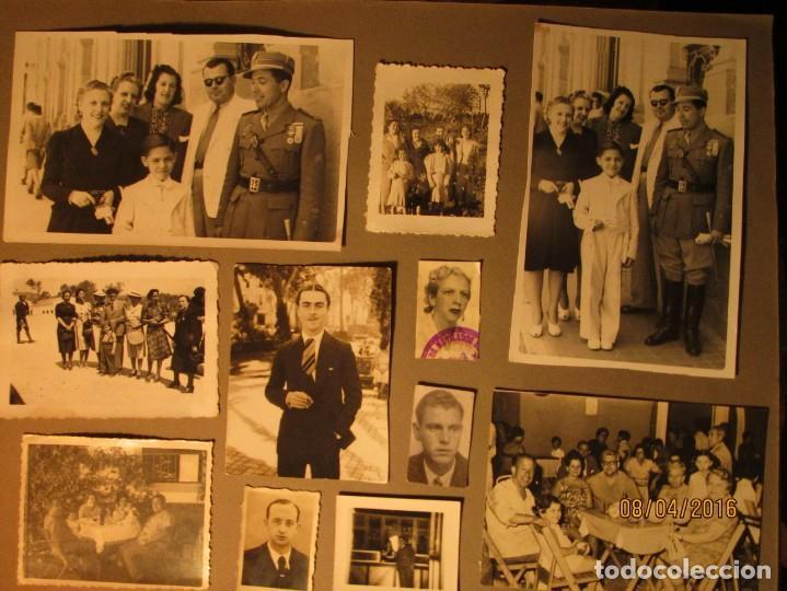 Militaria: POST GUERRA CIVIL ALBUM 214 FOTOS ANTIGUAS CEUTA MILITAR FIESTAS playa capitan avion - Foto 13 - 142265270