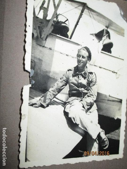 Militaria: POST GUERRA CIVIL ALBUM 214 FOTOS ANTIGUAS CEUTA MILITAR FIESTAS playa capitan avion - Foto 23 - 142265270
