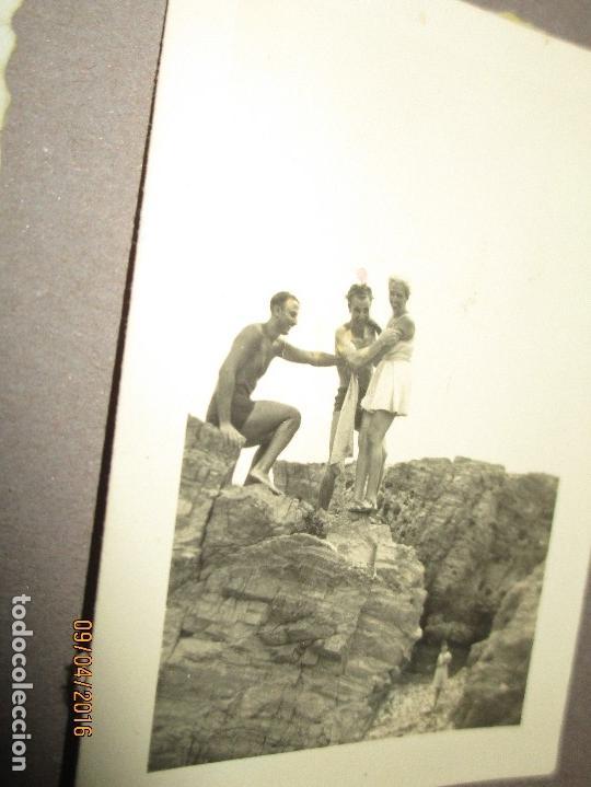 Militaria: POST GUERRA CIVIL ALBUM 214 FOTOS ANTIGUAS CEUTA MILITAR FIESTAS playa capitan avion - Foto 25 - 142265270