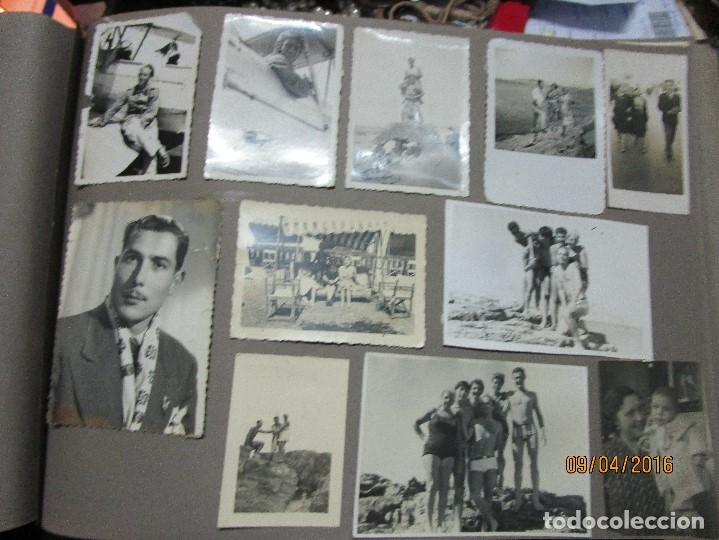 Militaria: POST GUERRA CIVIL ALBUM 214 FOTOS ANTIGUAS CEUTA MILITAR FIESTAS playa capitan avion - Foto 17 - 142265270