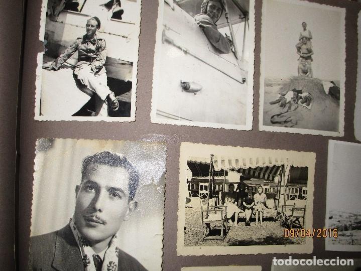Militaria: POST GUERRA CIVIL ALBUM 214 FOTOS ANTIGUAS CEUTA MILITAR FIESTAS playa capitan avion - Foto 19 - 142265270