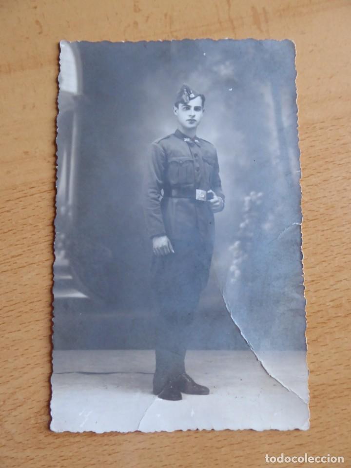Militaria: Fotografía soldado infantería del ejército nacional. 2-1939 - Foto 2 - 142769550