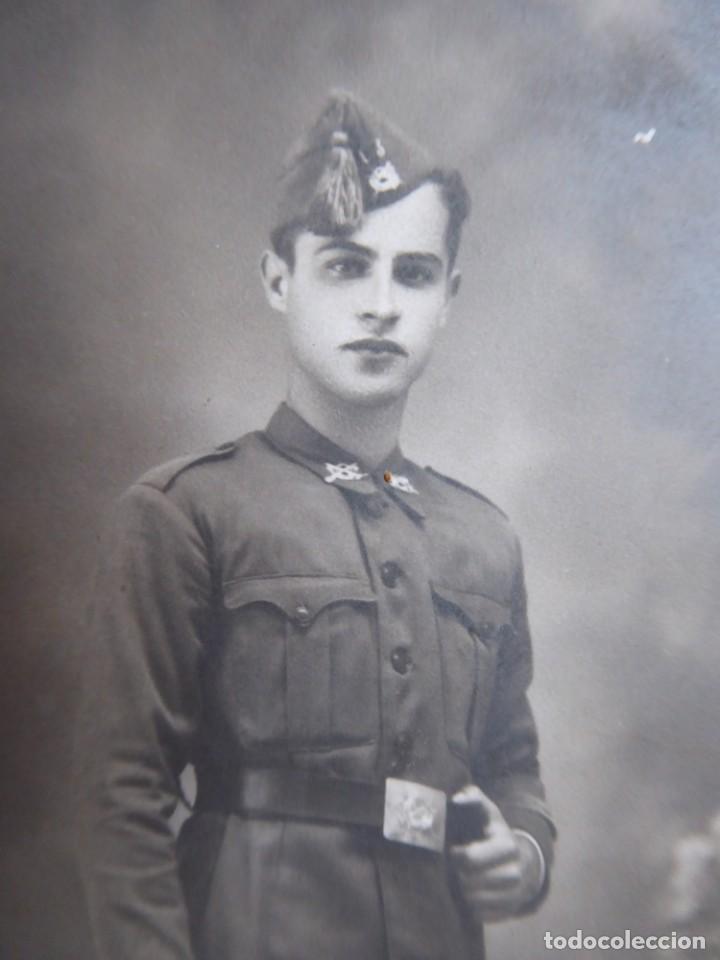 Militaria: Fotografía soldado infantería del ejército nacional. 2-1939 - Foto 3 - 142769550