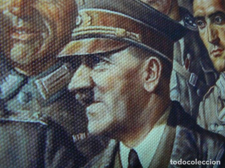 Militaria: Hitler con los soldados del Tercer Reich.Cuadro en lienzo – impreso.40x60 cm - Foto 5 - 182320712