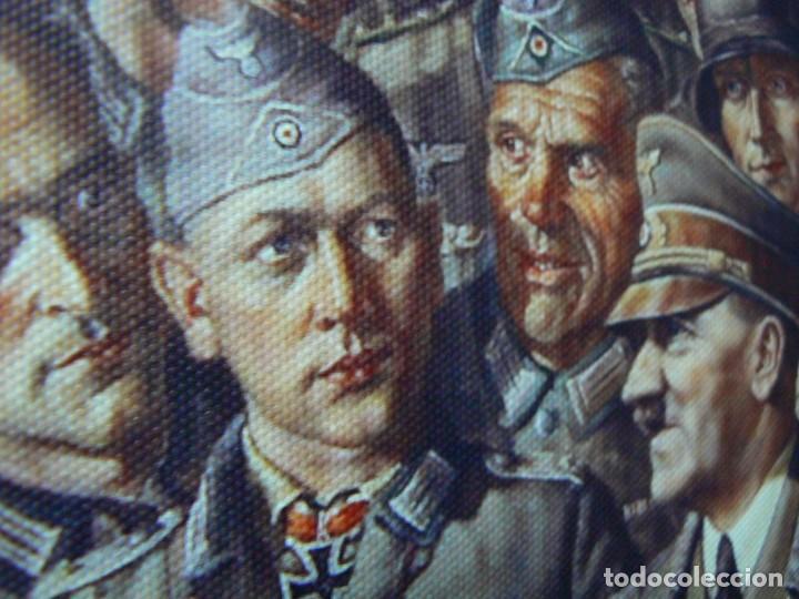 Militaria: Hitler con los soldados del Tercer Reich.Cuadro en lienzo – impreso.40x60 cm - Foto 6 - 182320712