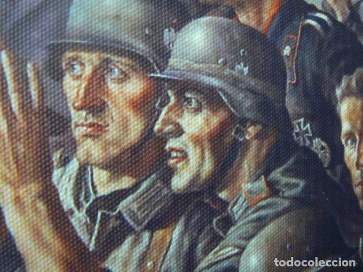 Militaria: Hitler con los soldados del Tercer Reich.Cuadro en lienzo – impreso.40x60 cm - Foto 7 - 182320712