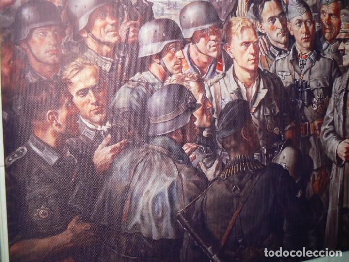 Militaria: Hitler con los soldados del Tercer Reich.Cuadro en lienzo – impreso.40x60 cm - Foto 10 - 182320712