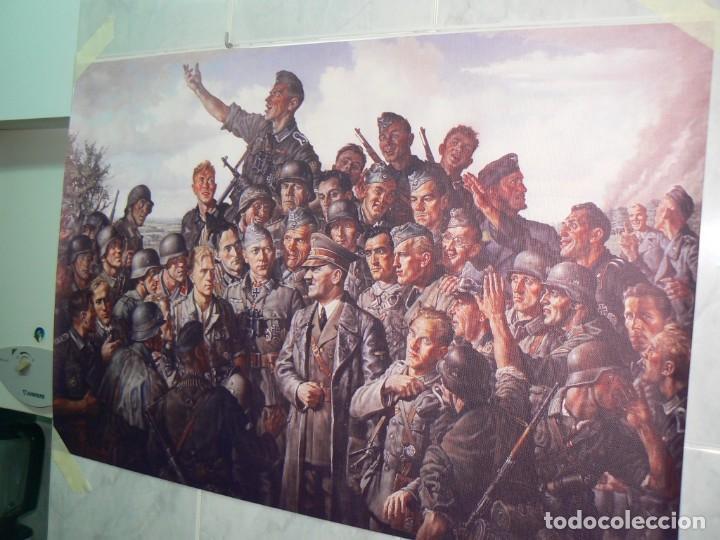Militaria: Hitler con los soldados del Tercer Reich.Cuadro en lienzo – impreso.40x60 cm - Foto 11 - 182320712