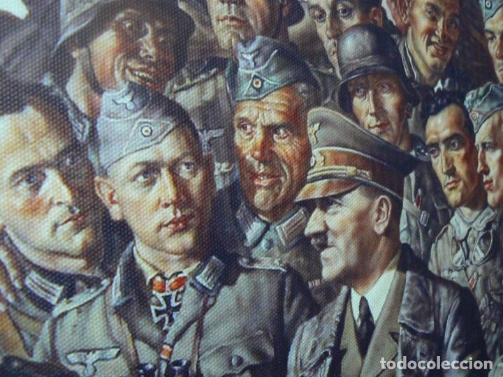 Militaria: Hitler con los soldados del Tercer Reich.Cuadro en lienzo – impreso.40x60 cm - Foto 13 - 182320712