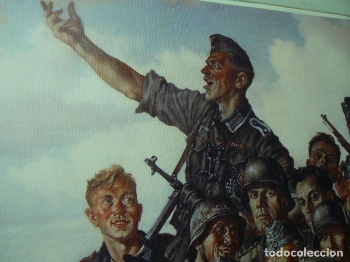 Militaria: Hitler con los soldados del Tercer Reich.Cuadro en lienzo – impreso.40x60 cm - Foto 14 - 182320712