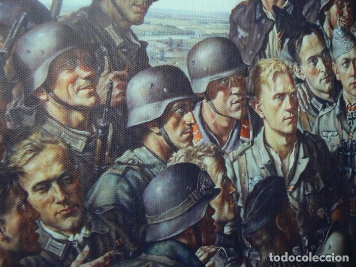 Militaria: Hitler con los soldados del Tercer Reich.Cuadro en lienzo – impreso.40x60 cm - Foto 15 - 182320712