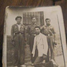 Militaria: FOTOGRAFIA GRUPO MILITARES NACIONALES. GUERRA CIVIL. Lote 143181262