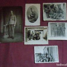 Militaria: LOTE DE SEIS FOTOGRAFÍAS MILITARES AÑOS 40.VER FOTOS Y DETALLES.. Lote 143186190