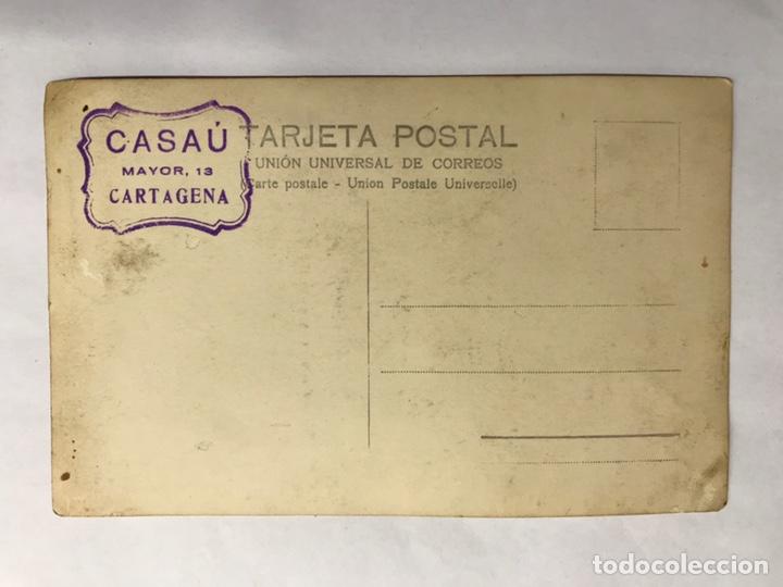 Militaria: DÉDALO. Portahidroaviones . Postal Fotográfica firmada por CASAU Cartagena (h.1930?) - Foto 2 - 143894701