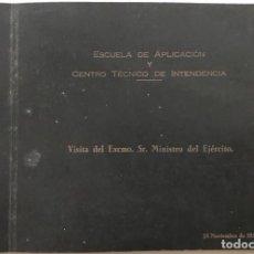 Militaria: ÁLBUM VISITA DEL EXCMO. SR. MINISTRO DEL EJÉRCITO AGUSTIN MUÑOZ GRANDES (DIVISIÓN AZUL) - AÑO 1956. Lote 143905266