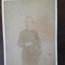 Militaria: FOTOGRAFÍA MILITAR BADAJOZ 1898. FERNANDO GARRORENA. DEDICADA A SU AMADA.. Lote 144140550