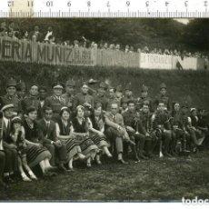 Militaria: FOTOGRAFIA BANDA MILITAR DE INGENIEROS CON ROS, APOCA DEL ALFONSO XIII. FOTO RAMON ROZAS. Lote 144186126