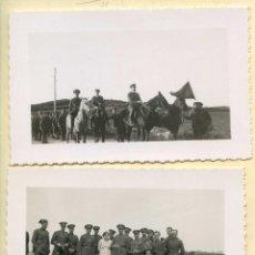 Militaria: DOS FOTOGRAFÍAS DE MILITARES DE MANIOBRAS, AÑOS 20 O 30, POSTALES FOTOGRÁFICAS. Lote 144770210
