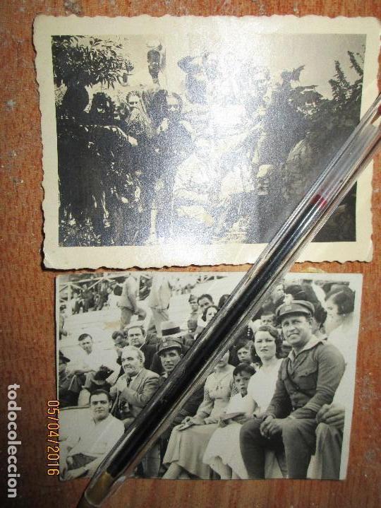 Militaria: OFICIALES PLAZA TOROS CEUTA Y OFICIAL FOTOGRAFO FINAL GUERRA CIVIL CIRCA 1939 - Foto 2 - 141857186