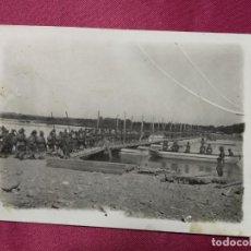 Militaria: FOTO POSTAL. MANIOBRAS PONTONEROS. CAMPO DE MANIOBRAS DE SAN GREGORIO. ZARAGOZA. RIA GALLEGA. 1929. Lote 145133182