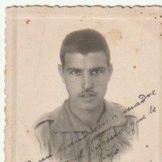 Militaria: FOTOGRAFIA DE UN MILITAR DEDICADA TETUAN 1941 - -C-40. Lote 145433702