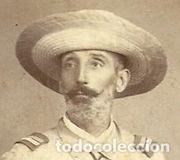 Militaria: (XJ-190101)OFICIAL CAMPAÑA DE FILIPINAS - FOTOGRAFIA PERTIERRA (MANILA) - BASTON DE MANDO,SABLE Y PI - Foto 3 - 145493190