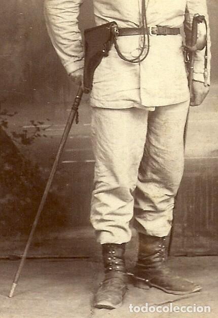 Militaria: (XJ-190101)OFICIAL CAMPAÑA DE FILIPINAS - FOTOGRAFIA PERTIERRA (MANILA) - BASTON DE MANDO,SABLE Y PI - Foto 5 - 145493190