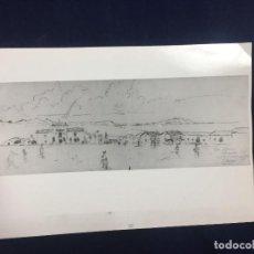 Militaria: FOTOGRAFIA MILITAR ALHUCEMAS DIBUJO BOCETO A MANO FIRMADO 1925 20X30CMS. Lote 145653706