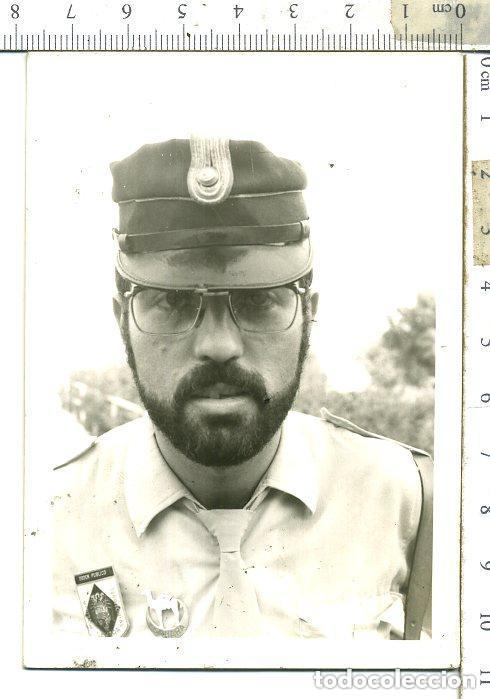 FOTOGRAFIA DE POLICÍA TERRITORIAL DEL SAHARA CON EMBLEMA POLICIA ORDEN PUBLICO.... (Militar - Fotografía Militar - Otros)
