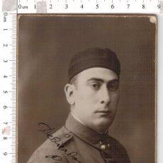Militaria: RETRATO SOLDADO DE ARTILLERÍA CON GORRO PANADERO , MELILLA 1929. Lote 146146834