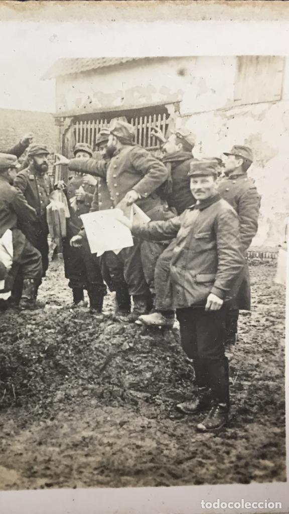 Militaria: fotografia estereoscopica militar soldados I guerra mundial francia arrive des journaux foto 2633 - Foto 2 - 146192886