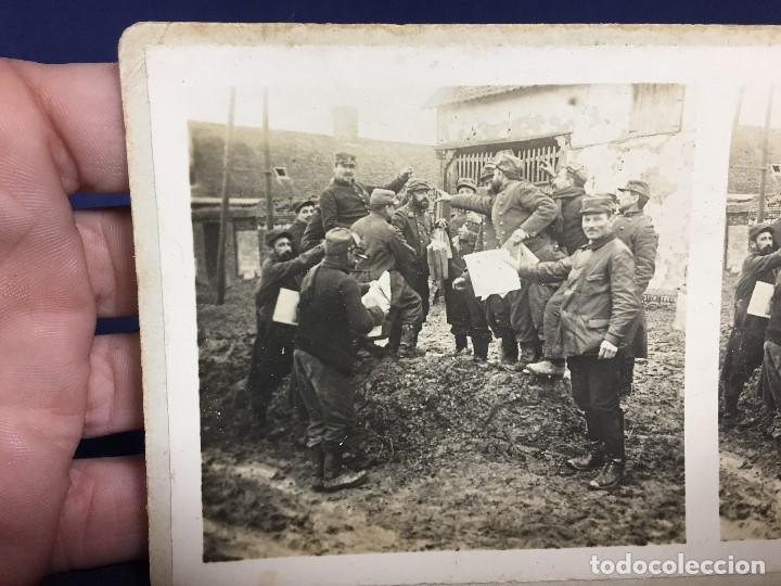 Militaria: fotografia estereoscopica militar soldados I guerra mundial francia arrive des journaux foto 2633 - Foto 4 - 146192886