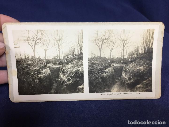 FOTOGRAFIA ESTEREOSCOPICA MILITAR SOLDADOS TUMBA EN TRINCHERAS I GUERRA MUNDIAL FOTO 2686 (Militar - Fotografía Militar - I Guerra Mundial)