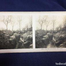 Militaria: FOTOGRAFIA ESTEREOSCOPICA MILITAR SOLDADOS TUMBA EN TRINCHERAS I GUERRA MUNDIAL FOTO 2686. Lote 146193538
