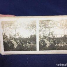 Militaria: FOTOGRAFIA ESTEREOSCOPICA MILITAR SOLDADOS MILITARES EN TRINCHERAS I GUERRA MUNDIAL FOTO 2617. Lote 146193798