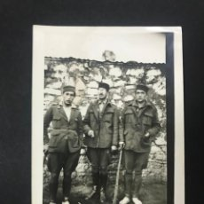 Militaria: RARA FOTOGRAFIA DE MILITARES EN FONDAK (TETUAN ) EN 1925, POSIBLEMENTE OFICIALES M. HERRADORES. Lote 146234542
