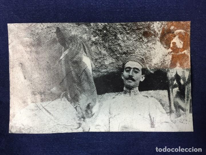 ANTIGUA FOTOGRAFÍA MILITAR FRANCISCO FRANCO DE JOVEN GENERALISIMO PPIO S XX (Militar - Fotografía Militar - Guerra Civil Española)