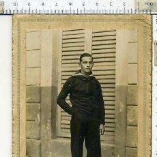 Militaria: MAGNIFICO RETRATO DE MARINERO, FOTO RAMIREZ MADRID, EPOCA DE ALFONSO XIII. Lote 147003918