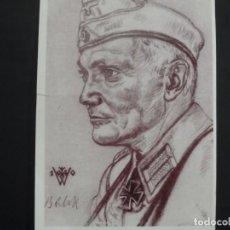 Militaria: POSTCARD GENERALLEUTNANT BALCK . PANZER REGIMENTS .VDA DEUCTCHEN JUGEND OCTUBRE 1941. Lote 147045322