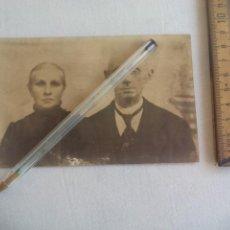 Militaria: ANTIGUA FOTOGRAFIA 1917, PRISIONEROS DE GUERRA SELLO DETACHEMENT DES PRISONNIERS DE GUERRE LORIENT. Lote 147250254